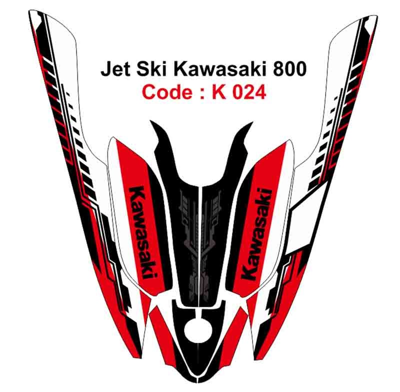 KAWASAKI 800 JET SKI GRAPHIC DECAL KIT CODE.K 024