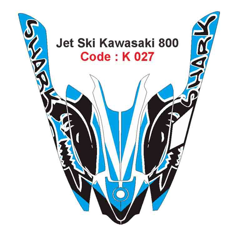 KAWASAKI 800 JET SKI GRAPHIC DECAL KIT CODE.K 027