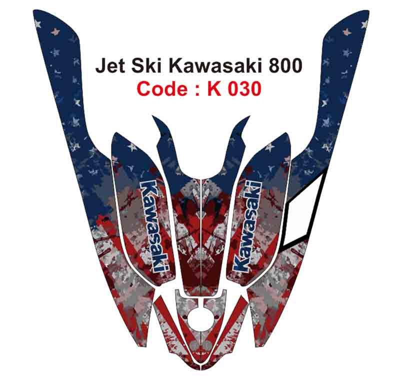 KAWASAKI 800 JET SKI GRAPHIC DECAL KIT CODE.K 030