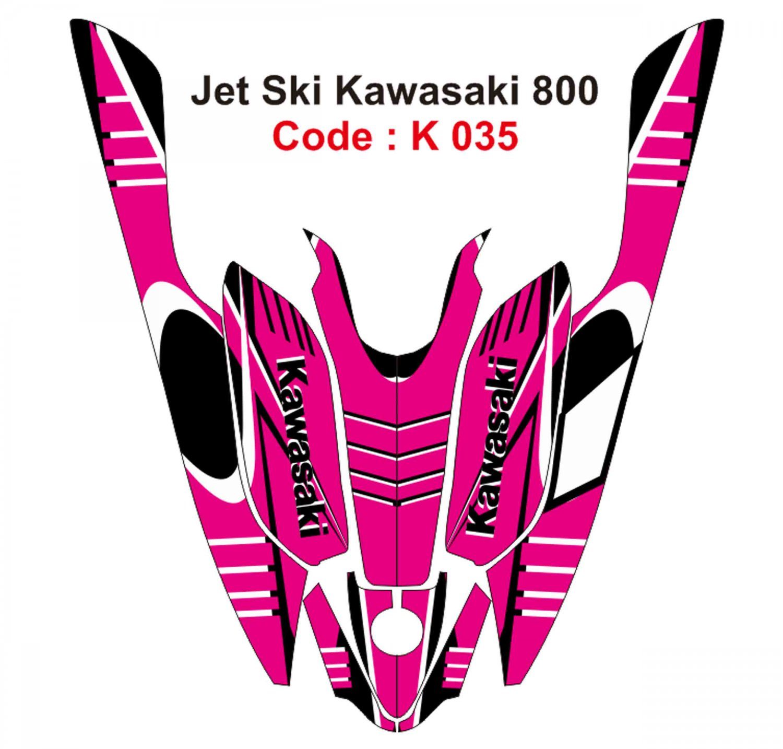 KAWASAKI 800 JET SKI GRAPHIC DECAL KIT CODE.K 035
