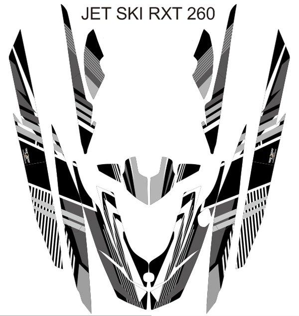 SEADOO RXT 260 JET SKI GRAPHIC DECAL KIT CODE.RXT 001