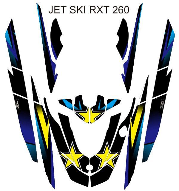 SEADOO RXT 260 JET SKI GRAPHIC DECAL KIT CODE.RXT 006
