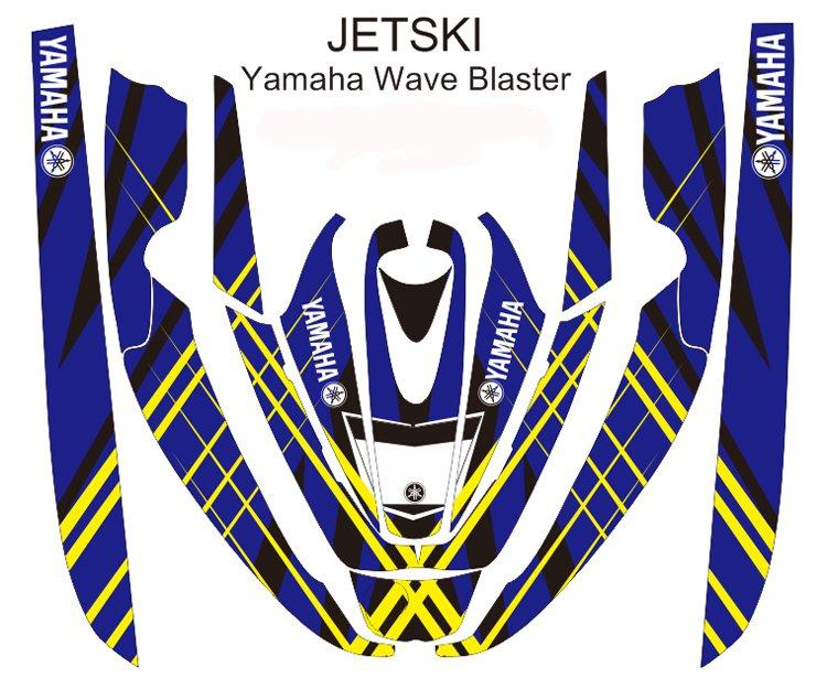 YAMAHA WAVE BLASTER JET SKI GRAPHIC DECAL KIT CODE.YWB 006
