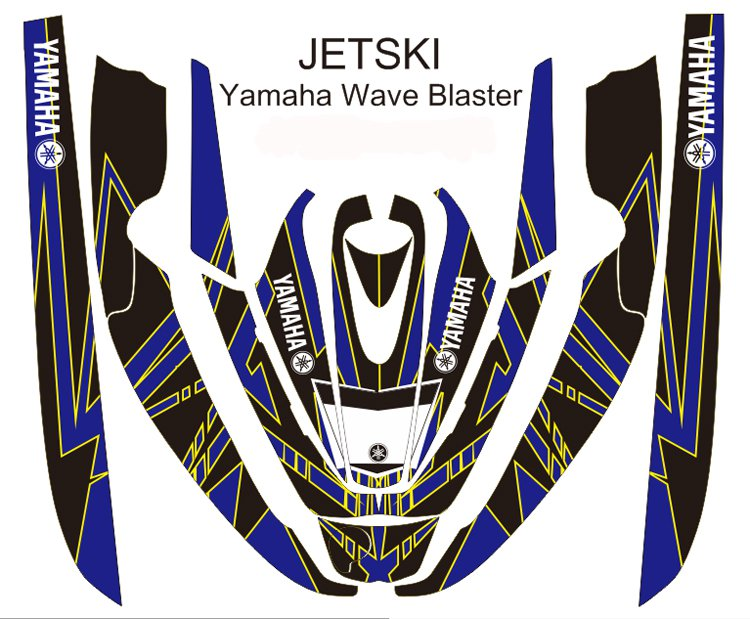 YAMAHA WAVE BLASTER JET SKI GRAPHIC DECAL KIT CODE.YWB 008