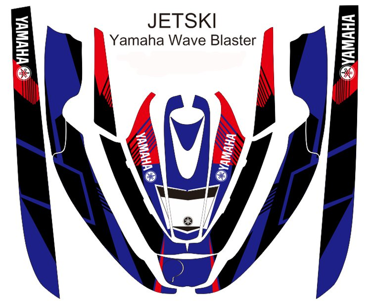 YAMAHA WAVE BLASTER JET SKI GRAPHIC DECAL KIT CODE.YWB 017