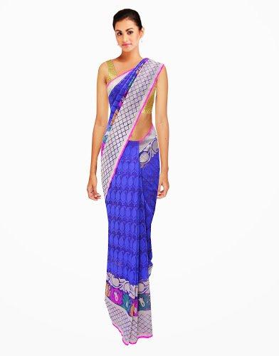 Charming Traditional Wedding Designer Handmade Saree