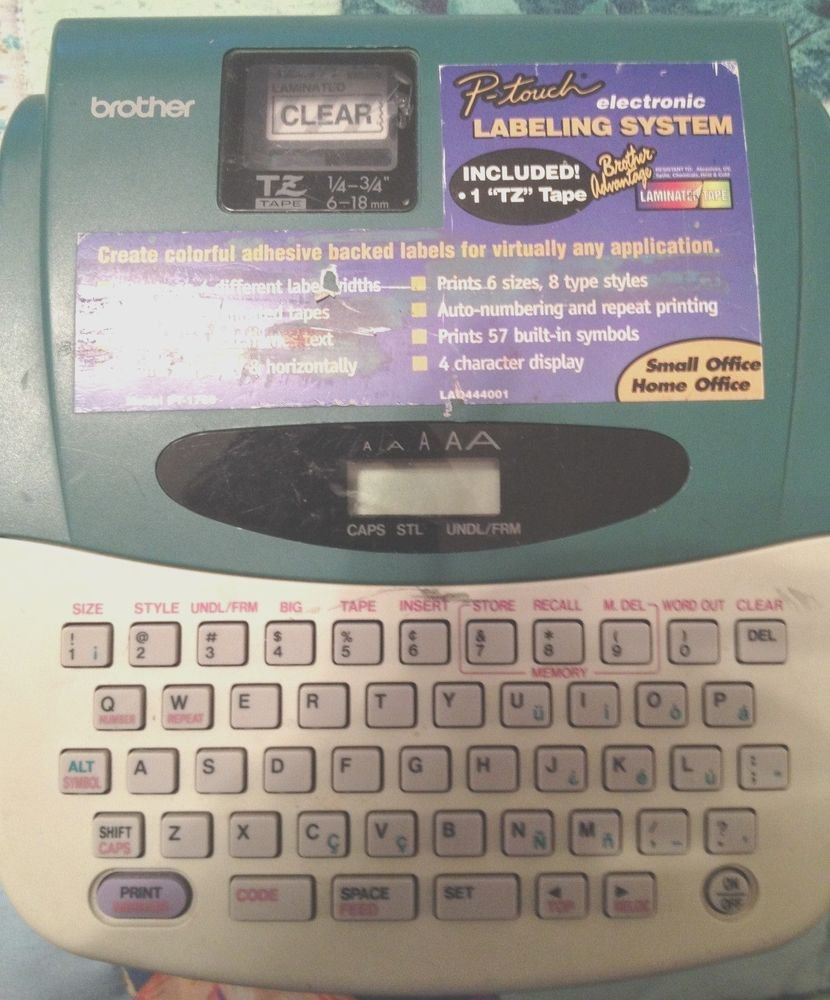 Brother PT-1700 ELECTRONIC LABELING SYSTEM WITH PRINTING TAPE