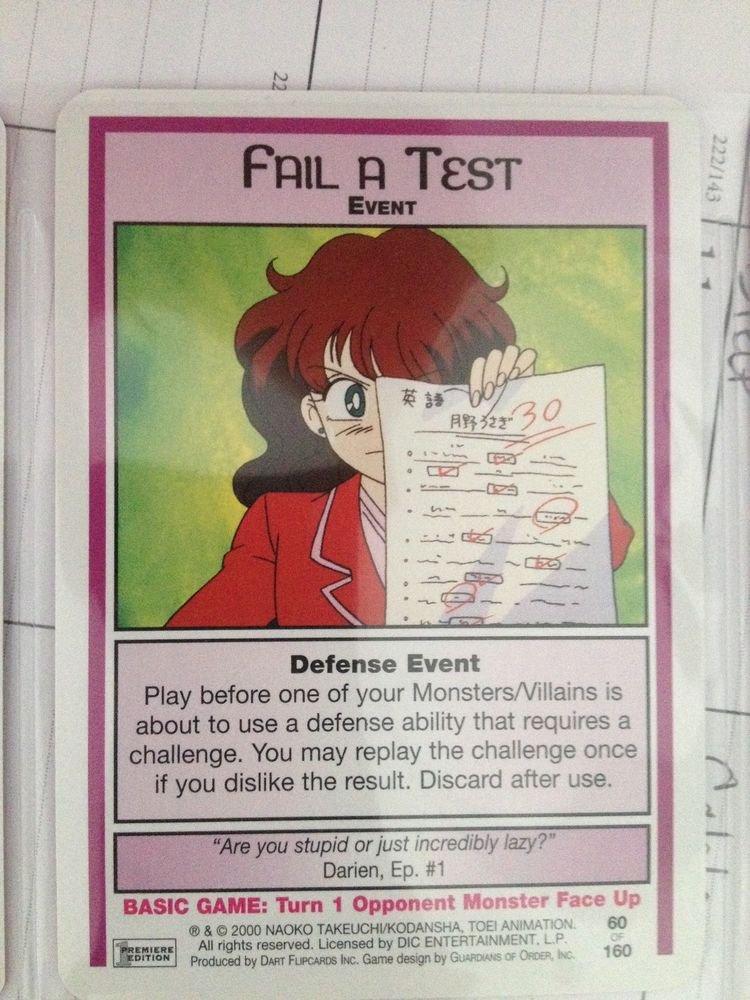 SAILOR MOON TRADING CARD # 60 ( FAIL A TEST)