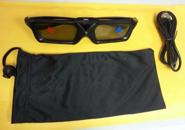 COMPATIBLE 3D ACTIVE GLASSES FOR TOSHIBA PROJECTOR TDP-S8 TDP-S20