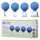 VACUUM MASSAGE CUPS SET OF 4 GLASS CUPS FOR MASSAGE