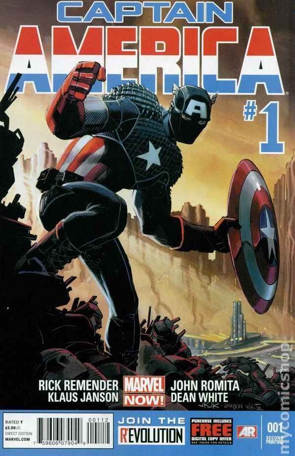 Captain America #1 (January 2013, Marvel) SECOND PRINT