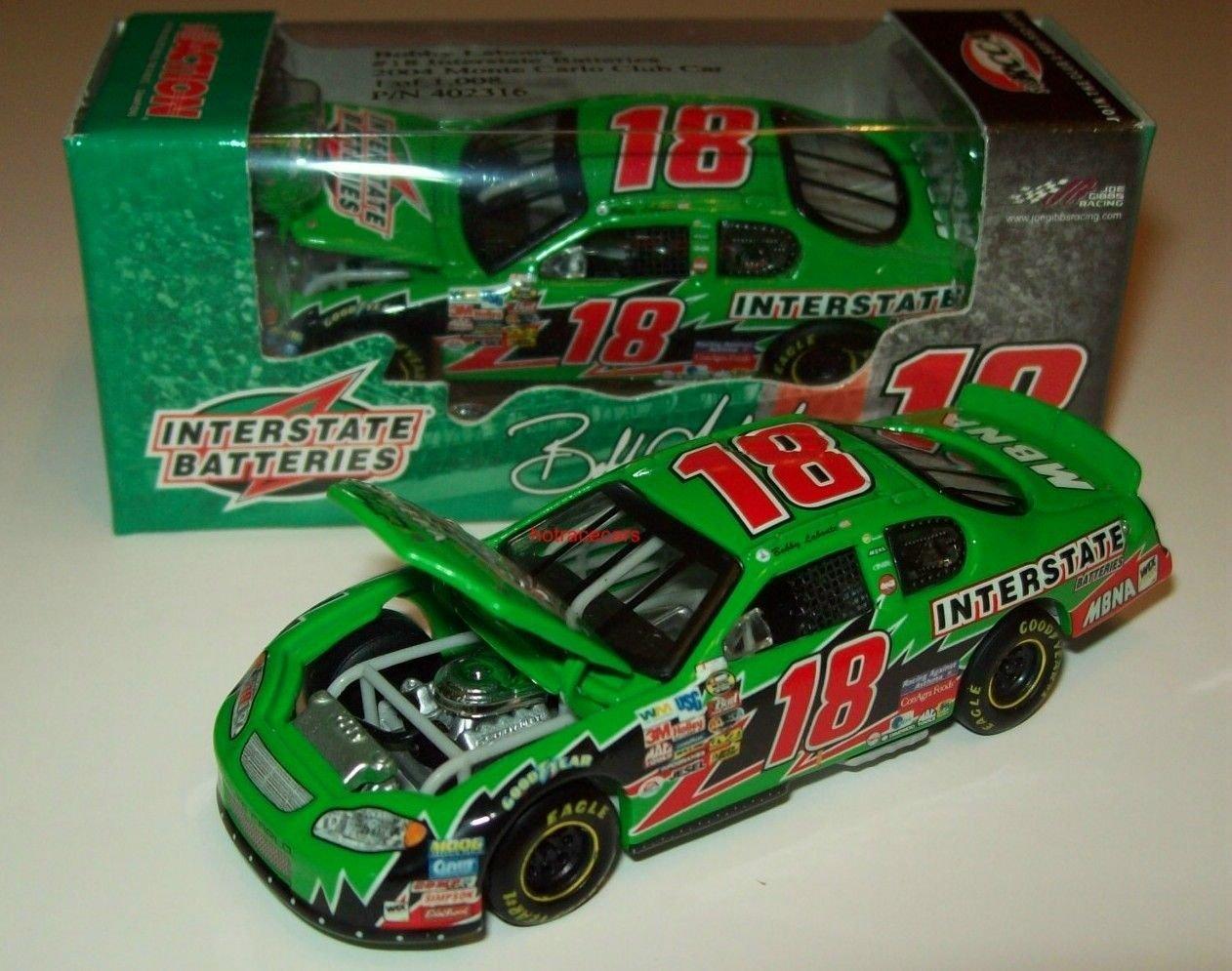 #18 Bobby Labonte 2004 Interstate Batteries Monte Carlo 1/64 RCCA Hood Open New