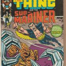 MARVEL TWO-IN-ONE #2 THING / SUB-MARINER 1974 WITH VALUE STAMP