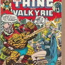 MARVEL TWO-IN-ONE #7 THING / VALKYRIE 1975 WITH VALUE STAMP