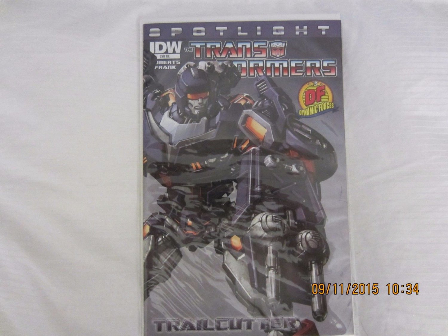 TRANSFORMERS SPOTLIGHT: TRAILCUTTER DF EXCLUSIVE COVER w/COA Limited Dynamic DF