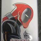 X-MEN #1 W/ DEADPOOL-SKETCH SIGNED-by-KEN-HAESER-with-COA