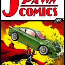 SPAWN #228  CLASSIC ACTION COMICS #1 COVER SWIPE