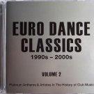 EURO DANCE CLASSICS 1990-2000 Club Music 2CD Technotronic Bellini Diana Fox ATB