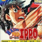 DVD ANIME HAJIME NO IPPO Season 1-3 Vol.1-127End + Movie + OVA Box Set Region 0
