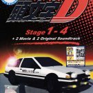 DVD ANIME INITIAL D Stage 1-4 + 2 Movie + 2 Original Sountrack Special Edition