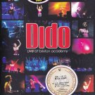 DIDO Live At Brixton Academy Live For Rent Tour DVD NEW PAL Dolby Digital