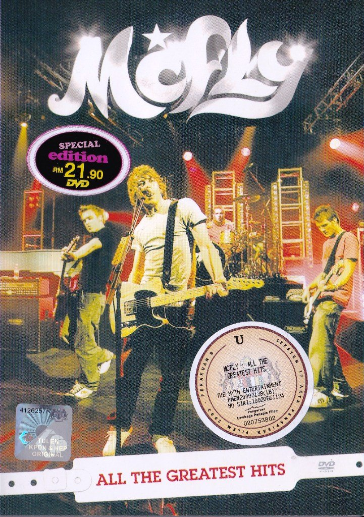 McFly All The Greatest Hits Tour 2007 Wolverhampton Civic Hall DVD Region All