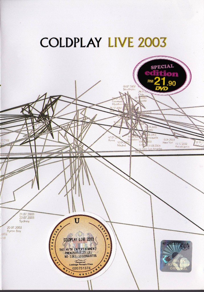 COLDPLAY Live In Sydney Australia 2003 DVD NEW NTSC Region All Free Shipping