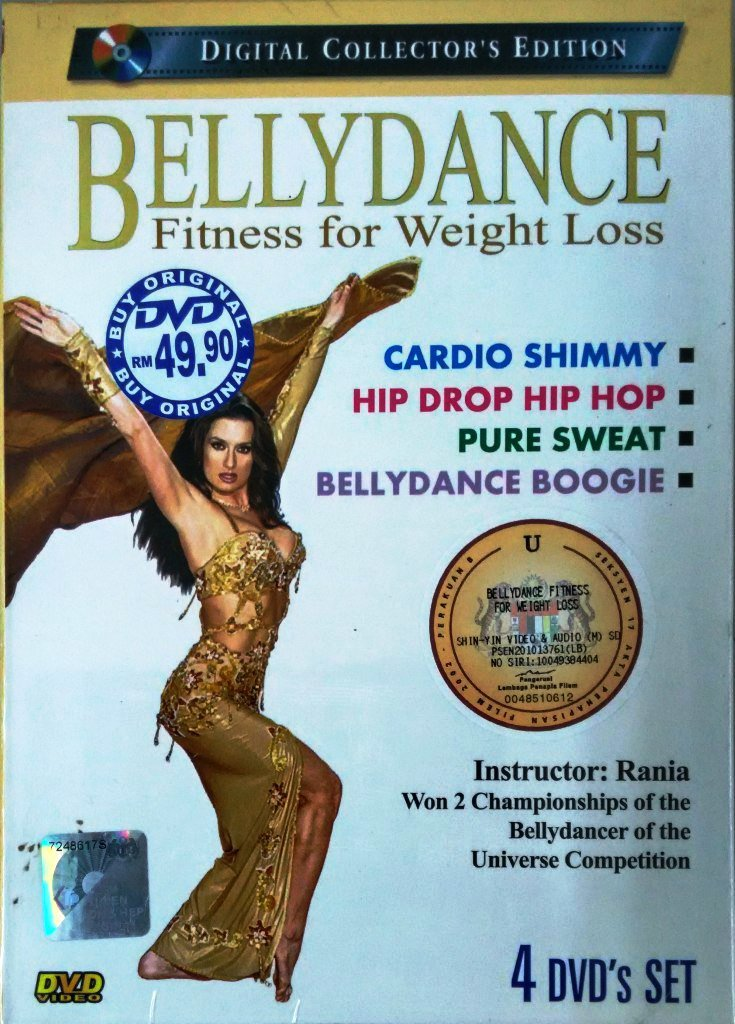 DVD Bellydance Fitness Weight Loss Cardio Shimmy Rania Bellydancer Champion