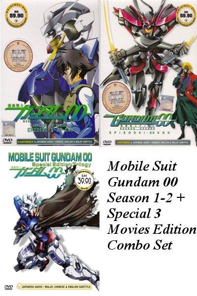 DVD ANIME MOBILE SUIT GUNDAM 00 Season 1-2 + Special OVA Trilogy English Sub