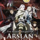 DVD ANIME Heroic Legend of Arslan Season 1 Vol.1-25End Arslan Senki English Sub