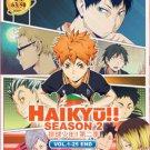 DVD JAPANESE ANIME HAIKYUU Season 2 Vol.1-25End English Sub Region All