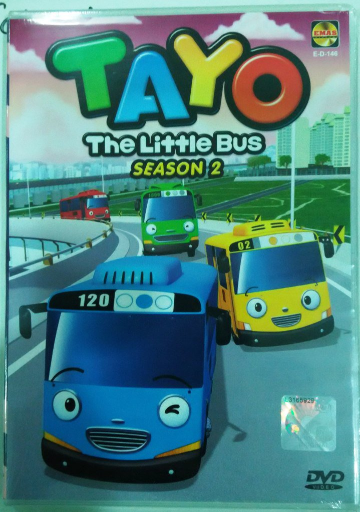 TAYO The Little Bus Season 2 Theme Song DVD Korean Animated Cartoon English Dub