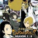 DVD DURARARA Season 1-4 Vol.1-61End DRRR Japanese Anime Region All English Sub