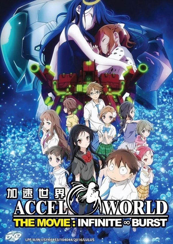 DVD Accel World The Movie Infinite Burst Japanese Anime English Sub Region All