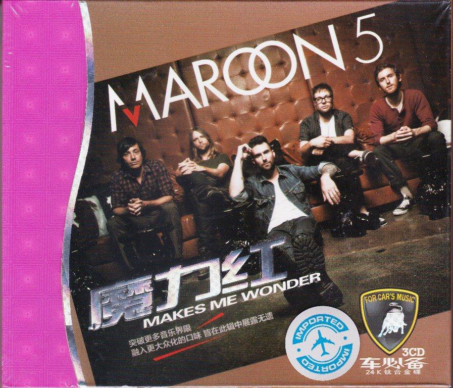 MAROON 5 Makes Me Wonder Greatest Hits 3CD Gold Disc 24K Car Hi-Fi Sound Quality