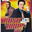 DVD Jackie Chan Rush Hour 1,2,3 Trilogy Movie Collection Box Set Region All