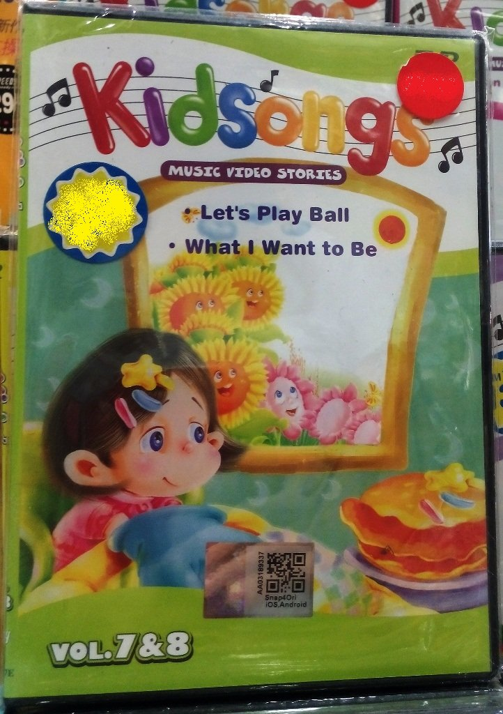 DVD Kidsongs Music Video Stories Vol.7&8 English Sub Region All