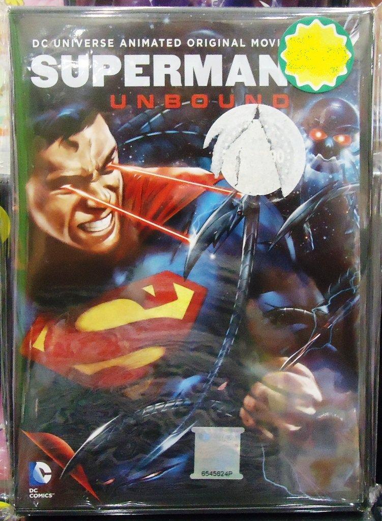 DC Movie Superman Unbound Anime DVD
