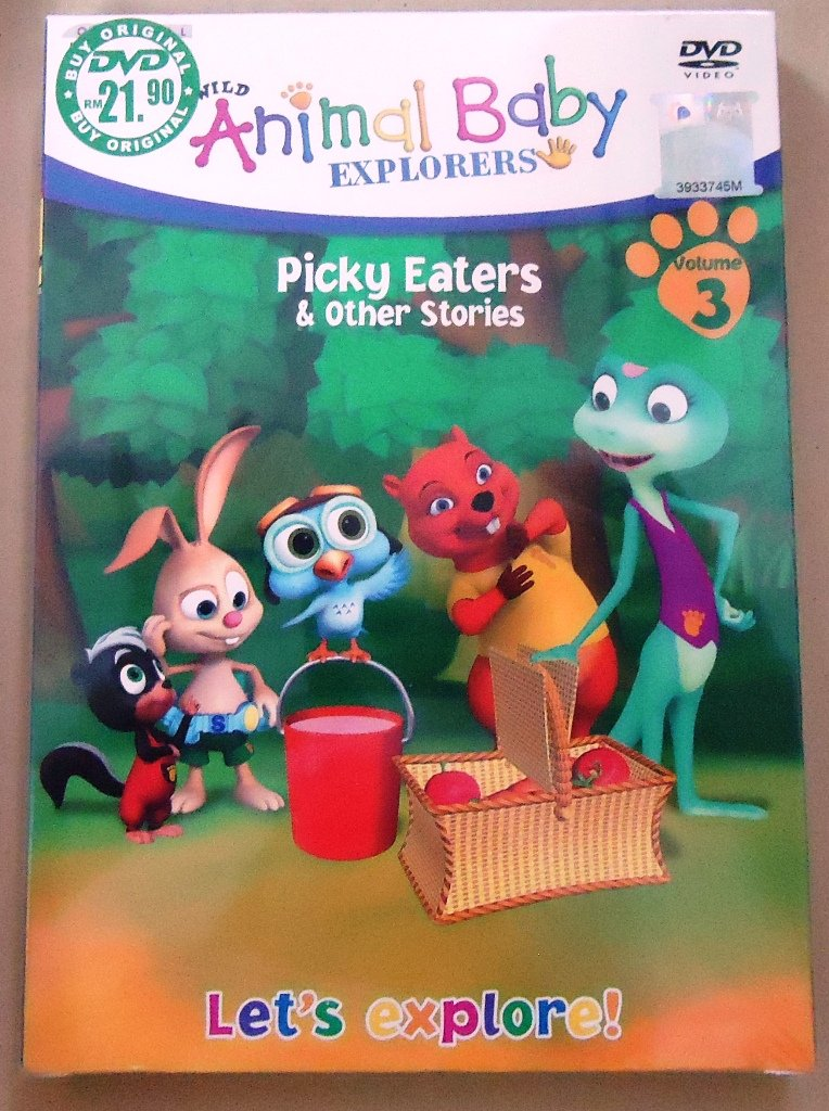 Animals baby EXplorers Picky Eaters & Other Stories DVD
