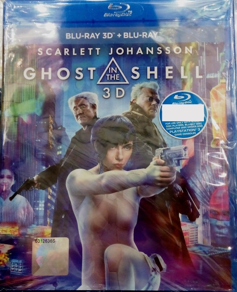 Ghost In The Shell Scarlet Johansson 3D Blu-ray Multi Language Multi Sub