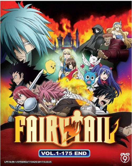 DVD Fairy Tail Complete TV Series Vol.1-175End + Movie Anime Box Set English Sub