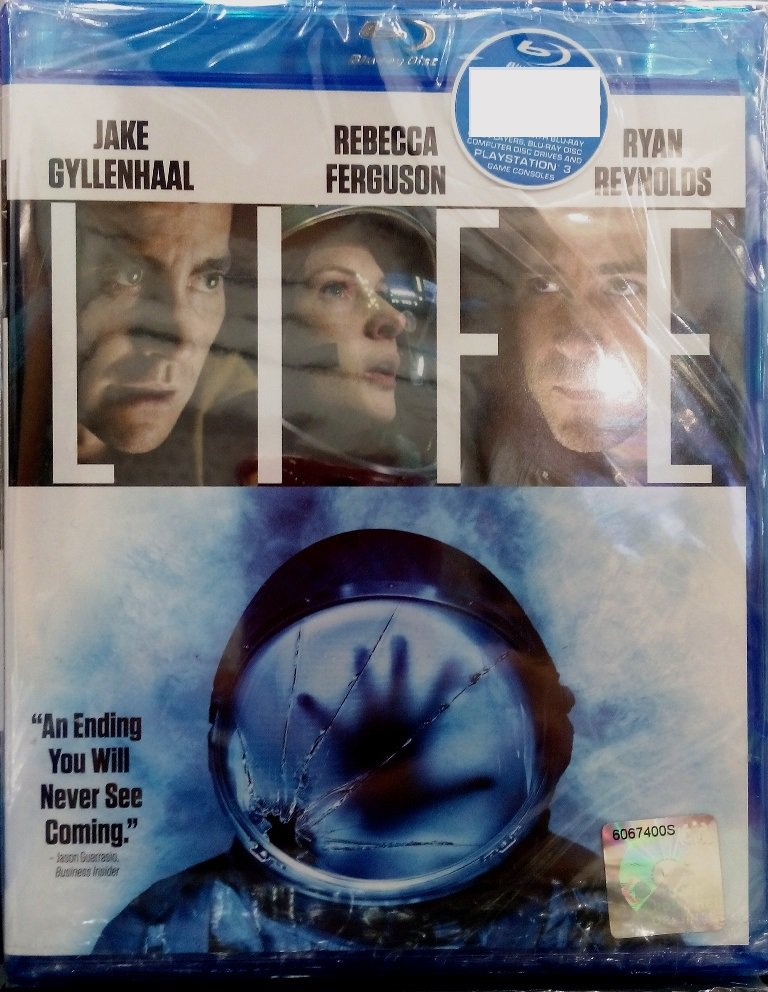LIFE 2017 Jake Gyllenhaal Rebecca Ferguson Blu-ray Multi Language Multi Sub