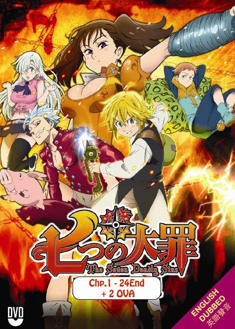 DVD The Seven Deadly Sins Season 1-2 English Dub 2 OVA Nanatsu no Taizai Eng Sub