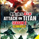 DVD ANIME Attack On Titan Season 2 Vol.1-12End bonus 6 Special English Dubbed