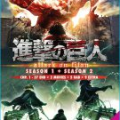 DVD ANIME Attack On Titan Season 1-2 English Dub + 2 Movie 5 OAD 9 Extra Eng Sub
