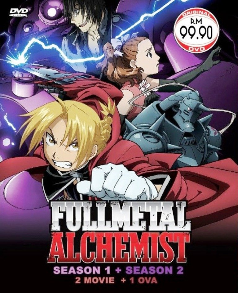 Fullmetal Alchemist Season1+2+2Movie+1OVA Anime DVD Eng Sub Region All