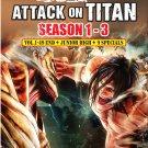 Attack On Titan Season1-3 Vol.1-49End+Junior High+9 Specials Anime DVD Eng Sub Region All