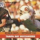 1991 Pro Set #669 Reuben Davis Tampa Bay Buccaneers