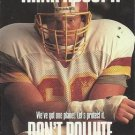 1991 Pro Set #724 Joe Jacoby Washington Redskins Think About It