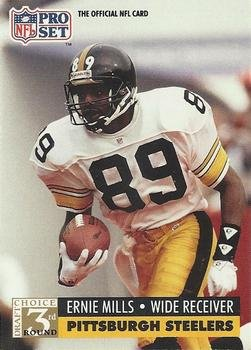 1991 Pro Set #802 Ernie Mills Pittsburgh Steelers RC